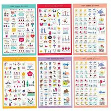 5 Sheets Paper Sticker DIY Photo Album Scrapbook Calendar Diary Planner Sticker