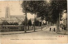 CPA  Cháteau-Thierry. - Eglise Saint-Crépin - Avenue de Soisson ou se.. (202486)