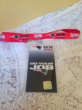 NEW ENGLAND PATRIOTS LANYARD 2016 DO YOUR JOB SEASON TICKET MEMBER BADGE HOLDER