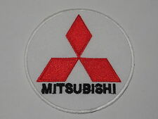 MOTORSPORTS RACING CAR SEW ON / IRON ON PATCH:- MITSUBISHI (a) EVO RED TRIANGLE