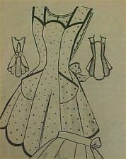 SALE Vintage Bib Apron Full Size Pattern 50s TV Mom Style Sewing Fabric Project