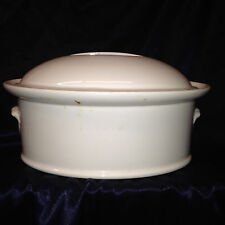 PILLIVUYT FRANCE CULINAIRE WHITE OVAL COVERED CASSEROLE DISH