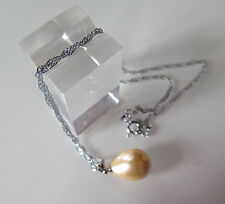 PENDENTIF PERLE OR 16x12mm... SOUTH SEA SHELL PEARLS