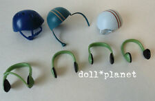 MY SCENE BARBIE DOLL ACCESSORIES LOT - Roller Skating HELMETS & Headsets