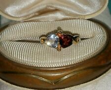 Bradford Exchange 24K Yellow Gold/Sterling Silver 2 Hearts Beat as 1 Ring $99