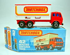 "Matchbox SF Nr.42B MB Container Truck rot ""Matchbox"" top in Box"