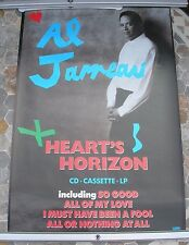 AL JARREAU Heart's Horizon promo poster 30 x 20 1988