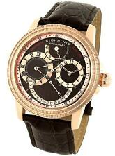 Stuhrling 283 3345K59 Saturnalia DT Automatic Dual Time Power Reserve Mens Watch