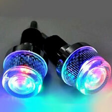 2xBike Bicycle Motorcycle Handlebar End LED Plug Light with RGB LED Flash Lamp A