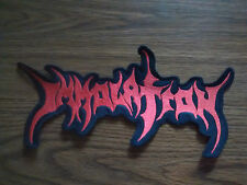 IMMOLATION,SEW ON RED EMBROIDERED LARGE BACK PATCH
