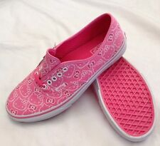 Vans Lo Pro Hello Kitty VN-0QERL8T Pink White Canvas Women Size US 10.5 -NEW