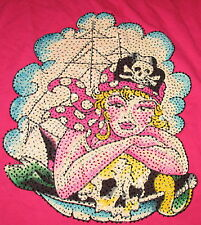 ED HARDY KIDS - RASPBERRY PINK EMBELLISHED 100% COTTON LONG SLEEVE TOP -  M 10