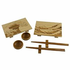 Totally Bamboo 8pc Wave Sushi Set - Light