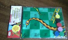 Brand new Snakes and ladders game 6 pieces & dice free p&p