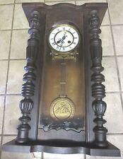 Rare Antique Mauthe 24 hour military wall mantel pendulum time & strike Clock