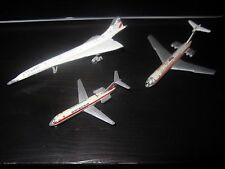 3x Schuco Concorde AIR FRANCE 335 789 Airplane Flugzeug Swiss Air IL 62 Plane