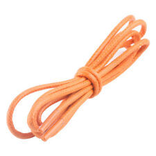 Orange Waxed Cotton Round Cord Shoelaces Shoestrings Strings Bootlaces Laces