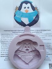 Karen Davies Penguin Cup Cake Top Christmas Mould NEXT DAY DESPATCH