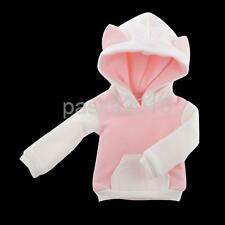 Cat Ear Fleece Hoodie Hoody Clothes Outfit FOR 1/6 BJD SD DOD Dollfie Pink