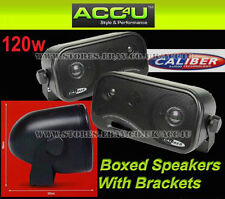Car Van Caravan Home Boat 120w 3-Way Coaxial Boxed Pod Speakers With Brackets