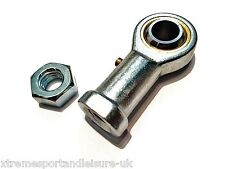 M6 6mm FEMALE LEFT HAND THREAD ROSE JOINT TRACK ROD END COMPLETE WITH LOCKNUT