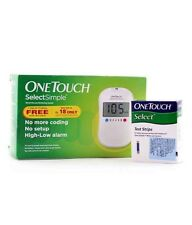 One Touch Select Simple Glucometer Machine with 10 Strips Johnson & Johnson