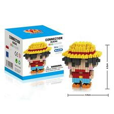 Anime One Piece Monkey D Luffy Mini Diamond Building Blocks DIY Toys Kids Gift