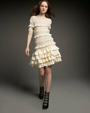 MARC BY MARC JACOBS CREAM DAISY RUFFLE SWEATER DRESS XS