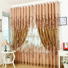 Sheer Curtain Panel Drape Floral Window Balcony Room Valance Voile New 250x100cm