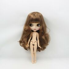 Brown hair with bangs,matte face,azone joint body Blythe Nude New Factory