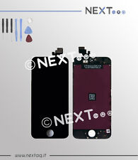 Touch screen vetro retina display frame iphone 5 nero + kit riparazione
