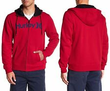 HURLEY Surf Club One & Only 2.0 Full Zip Hoodie in Gym Red Sz.Large NWT