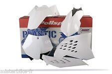 Kit plastiques Coque POLISPORT  KTM 450 SXF SX-F450  07-10 Couleur Blanc