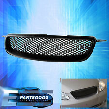 For 2003-2008 Toyota Corolla Front Bumper ABS Upper Grille Black Mesh Upgrade