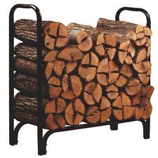 Panacea 15203 Deluxe Black Steel 4' Outdoor Log Rack