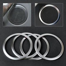 4 Pcs Silver Interior Door Speaker Trim Cover Ring For BMW 3-Series F30 F34 320