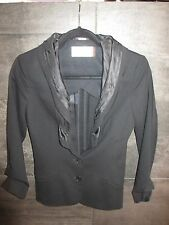 Hussein Chalayan black wool dress jacket size 38