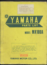Yamaha MX100A (1973-1974) Fully Illustrated Parts Catalogue MX 100 A,VMX,pre-YZ