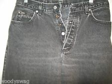 Lee Jeans Size 13 L 100% Cotton Black Made in USA Pre-Owned 5 Buttons