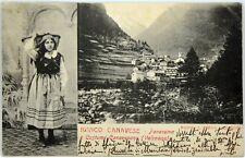 Cartolina Formato Piccolo - Ronco Canavese - Panorama E Costume Canavesano (Vals