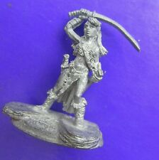female warrior ral partha with katana raised 10-310 silver & steel elmore mize