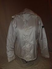 Women's Calvin Klein Jeans white med long sleeve zip front puffer coat jacket