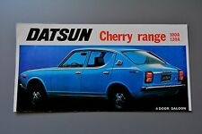 Sales Brochure Datsun Cherry Range 100A 120A Saloon Coupe Estate, Fold-Out
