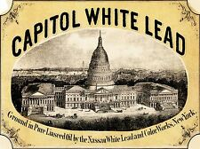 ADVERT LEAD PAINT CAPITOL WHITE LINSEED OIL NASSAU NEW YORK USA POSTER LV206