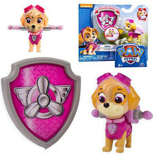 Paw Patrol Action Pack Pup & Badge Shield Dog Backpack Projectile Toy - Skye