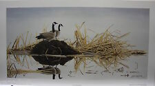 "Glenn OLSON ""Homemakers"" LTD art print Canada Geese Family Certificate COA"