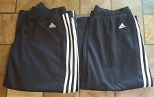 2 Pair Of Woman's Adidas Blue And White Pants Size L X 18