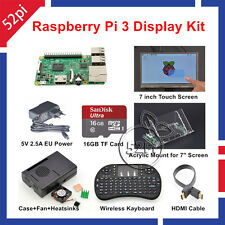 Raspberry Pi 3 16GB Starter Display Kit with 7 inch 1024*600 Touch Screen