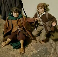 1/6 LOTR Sideshow Collectibles Frodo Baggins and Sam Gamgee Action Figure Doll