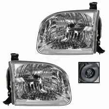 Headlights Headlamps Left & Right Pair Set for Toyota Sequoia Tundra Truck